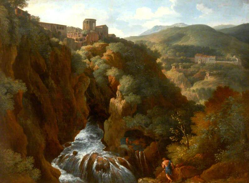View of Tivoli, Italy, with the Temple of the Sibyl