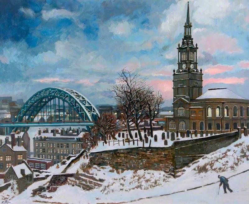 The Tyne Bridge and All Saints Church, Newcastle upon Tyne, Tyne and Wear