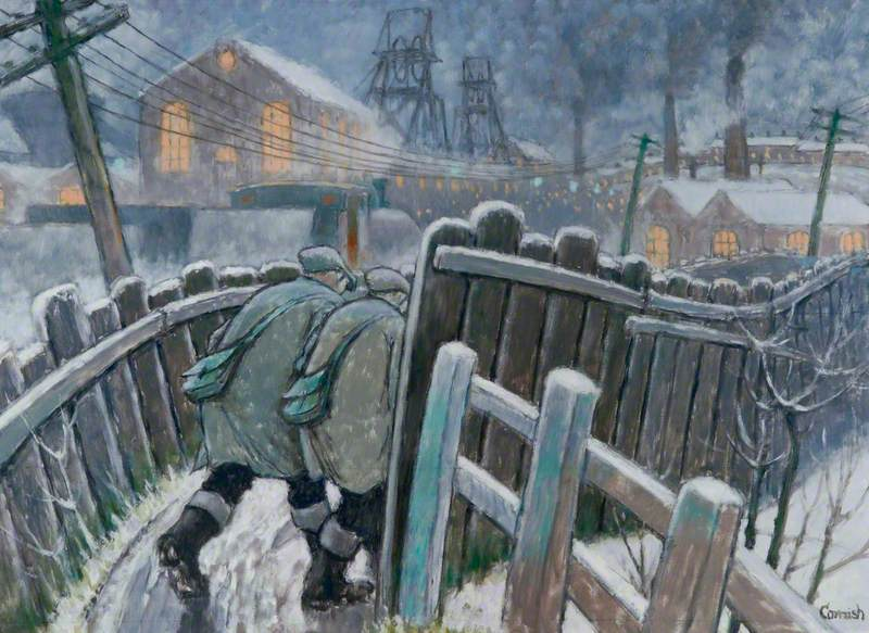 Pit Road near a Colliery, Winter