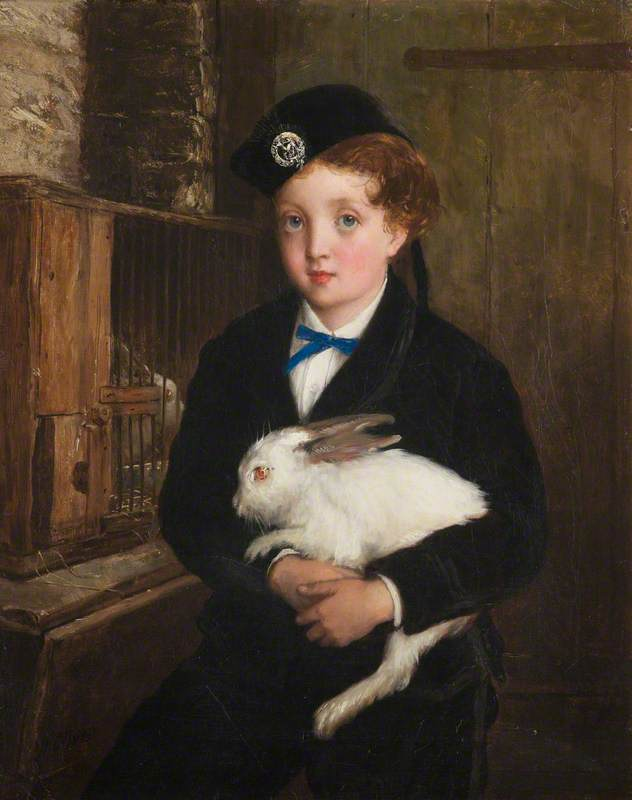 Girl Holding a Rabbit