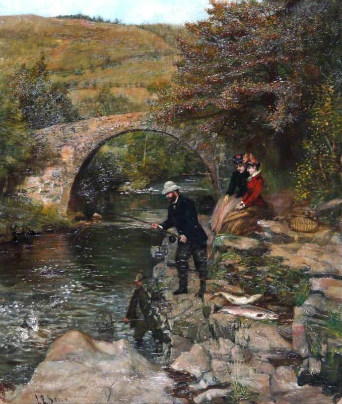 Madame Patti Watching Nicolini Landing a Salmon, Pont Pantysgallog