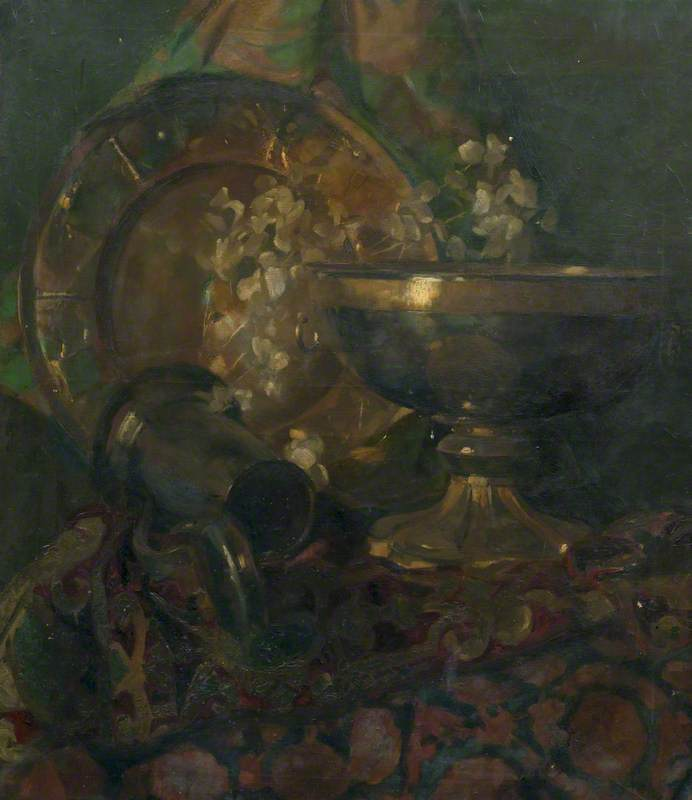 Still Life: Chalice, Plate and Tankard
