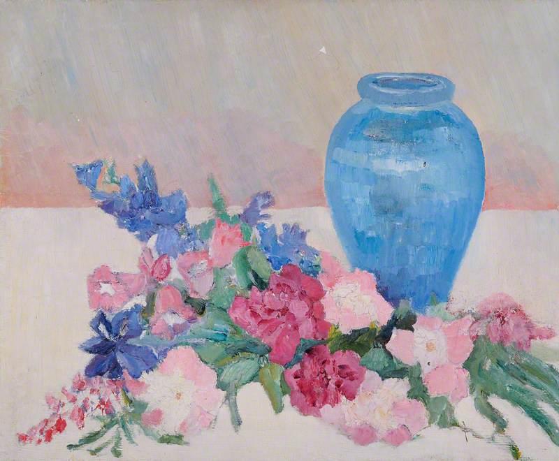 Still Life, Blue Vase