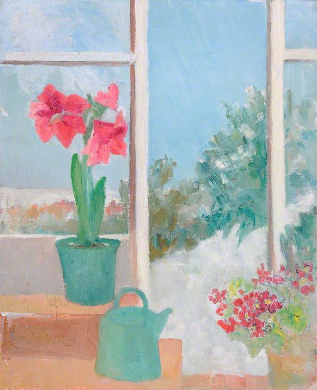 Amaryllis and Watering Can