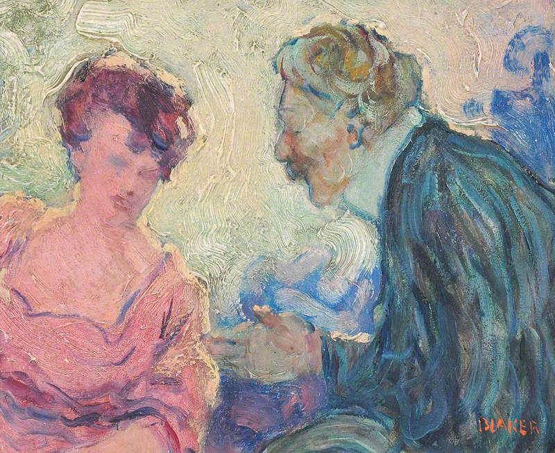 Man Greeting a Woman (A Conversation)