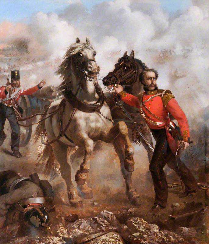 Captain E. W. D. Bell Winning His VC at the Alma, 20th September 1854