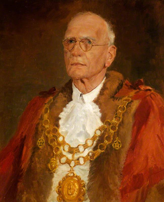 Portrait of an Unknown Mayor in Robes with Glasses