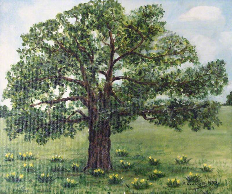 Tree with Daffodils