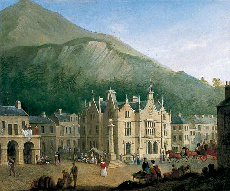 A View of Settle Market Place from the West
