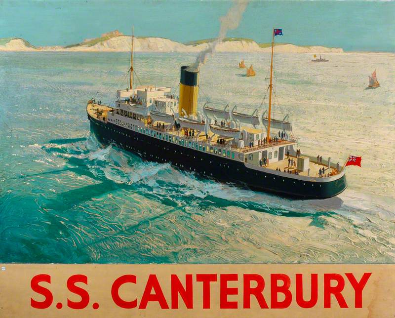 Southern Railway Steamer SS 'Canterbury' Approaching Dover