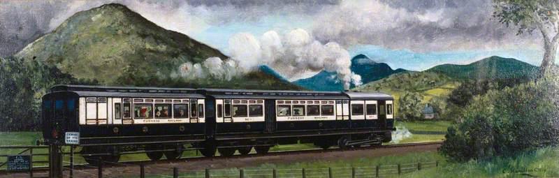 Travel in 1910 (Coniston Steam Motor Train, Furness Railway)