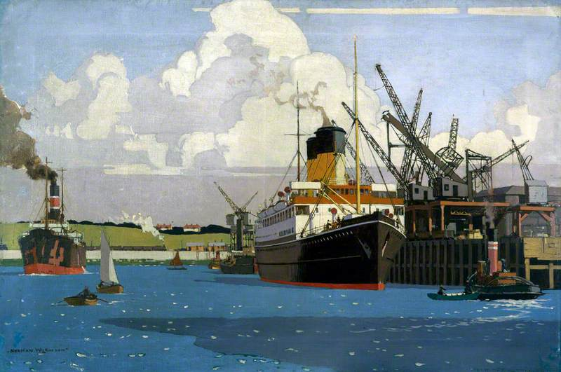 View of Docks with SS 'Duke of Argyll' at Quay