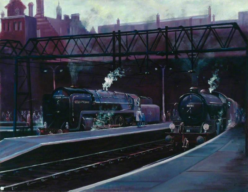 Liverpool Street Station, East Side, with Standard Class 7 4–6–2 Locomotive No. 70037 'Hereward the Wake'