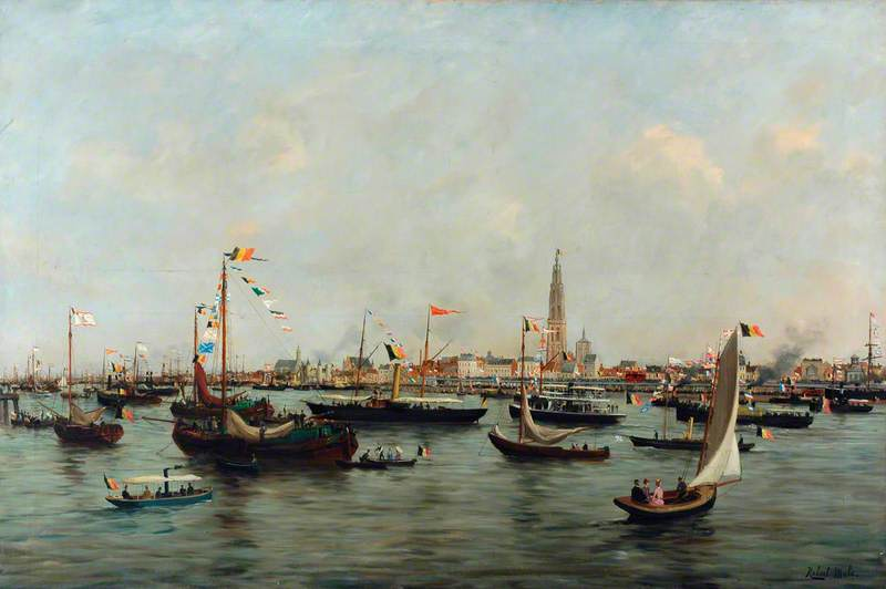Inauguration of the Quay Extension at Antwerp, 26 July 1885
