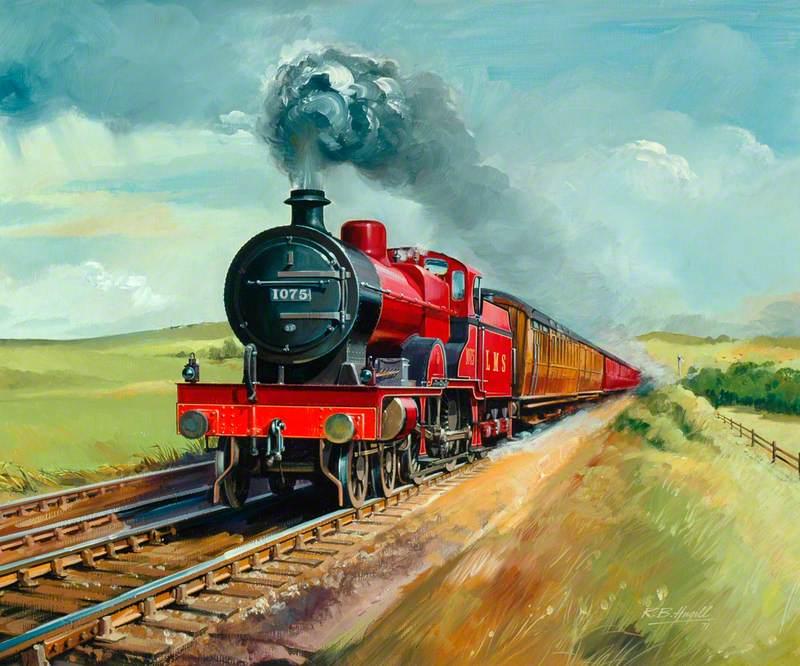 London, Midland and Scottish Railway Twelve Noon, London (St Pancras) to Glasgow Express, Hauled by 4–6–0 Locomotive No. 1075