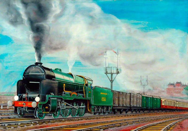 Southern Railway Pullman Train Hauled by 4–6–0 Locomotive No. 850 'Lord Nelson'