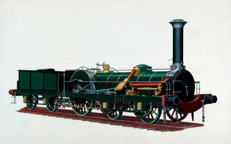 Northern Railway of France 4–2–0 Locomotive No. 122