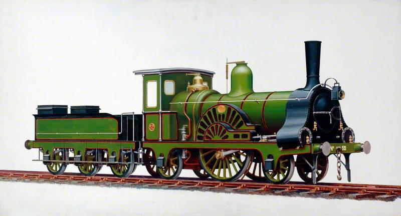 Great Eastern Railway 2–2–2 Locomotive No. 52