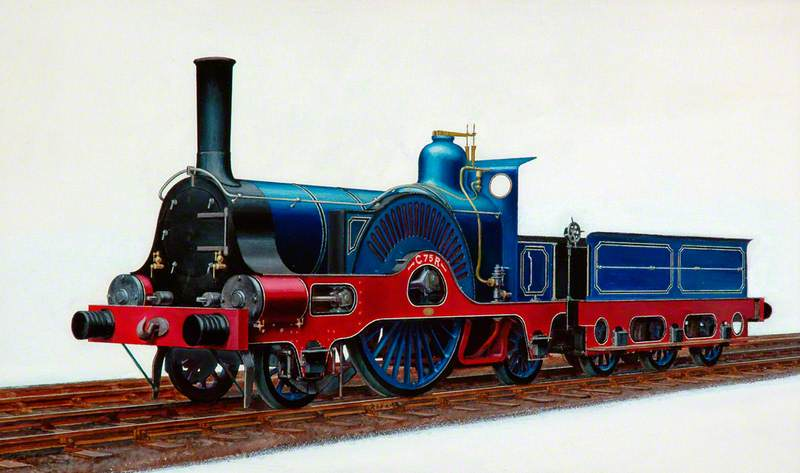 Caledonian Railway 2–2–2 Locomotive C75R
