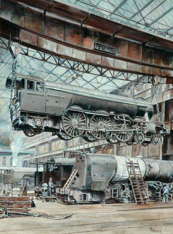 The Erecting Shop of the North British Locomotive Company's Hyde Park Works, Glasgow