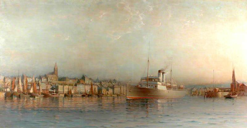 SS 'Victoria' Leaving Boulogne (South Eastern and Chatham Railway)