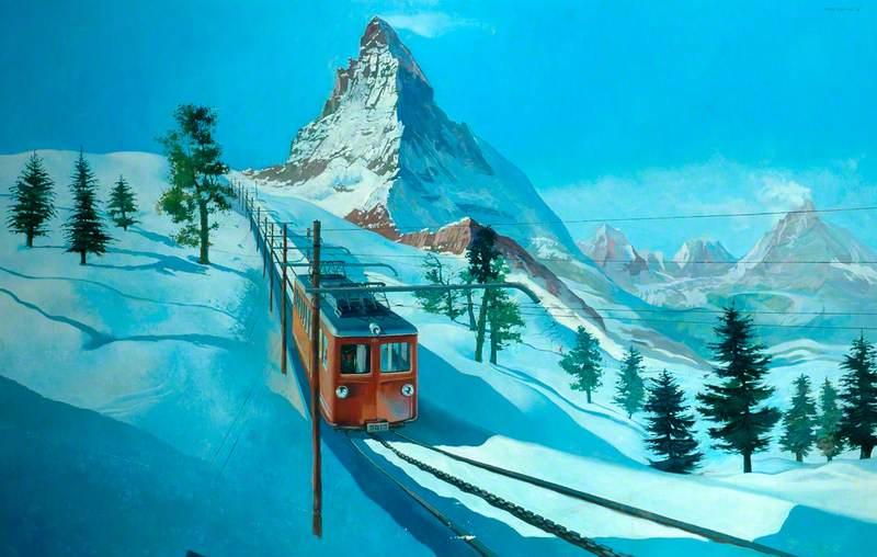 Electric Rack Railway below the Matterhorn in Switzerland