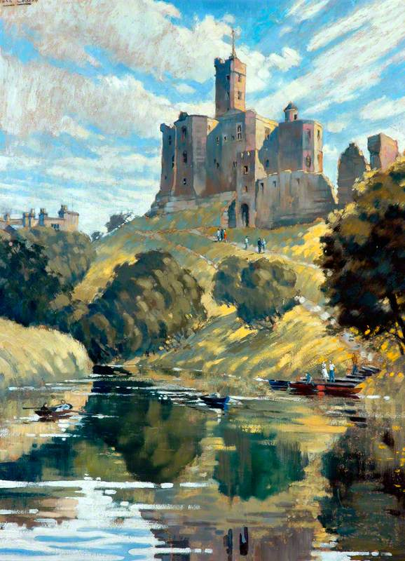 Warkworth Castle from the River Coquet