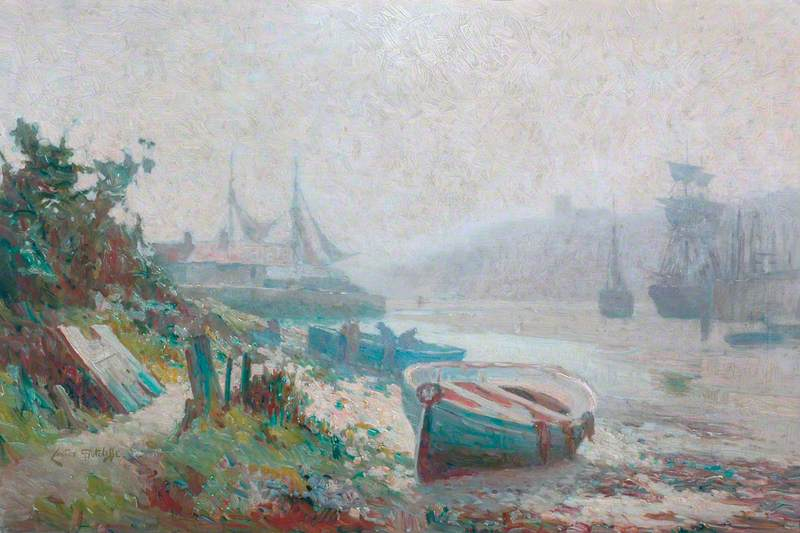 A Misty Day, Upper Harbour, Whitby