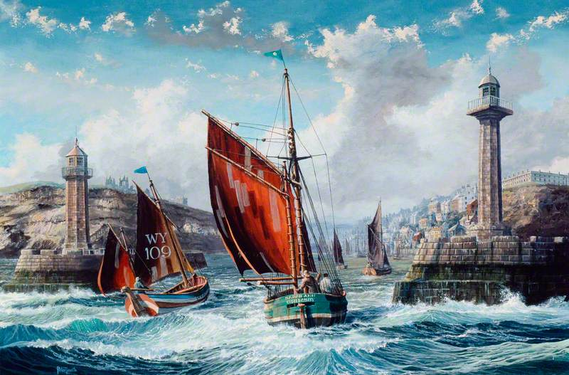 Sailing Ships in Whitby Harbour