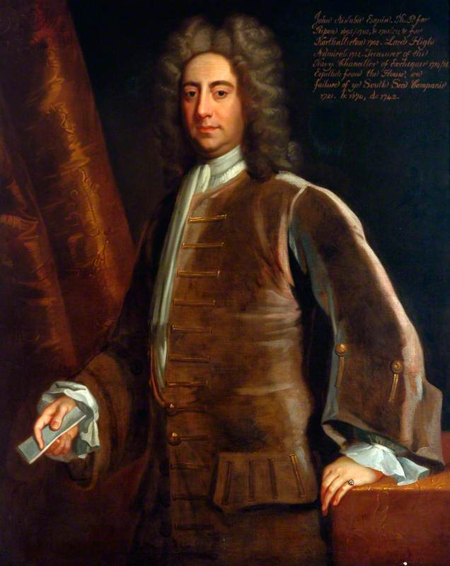 John Aislabie, Esq., Mayor of Ripon (1702–1703) and Chancellor of the Exchequer (1714–1716)