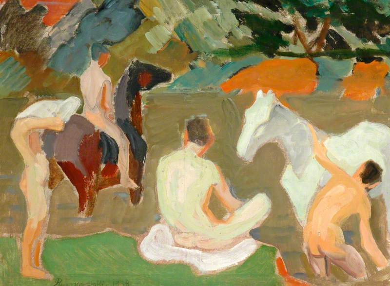 Study for 'Boys Watering Horses'