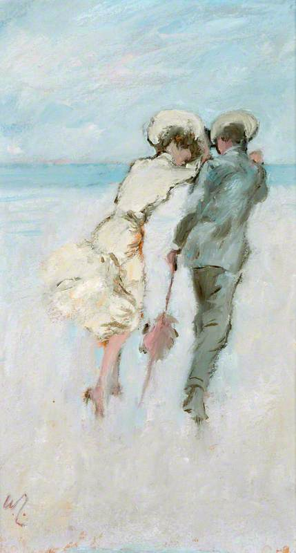 Lovers by a Windy Seashore