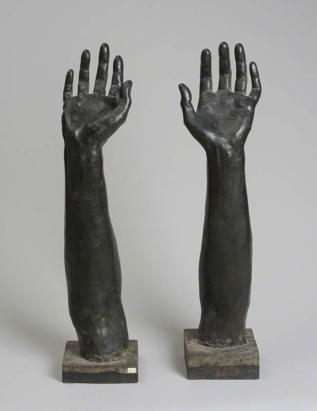 Pair of Bronze Arms
