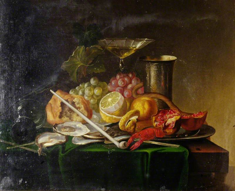 Still Life with a Lobster and Oysters