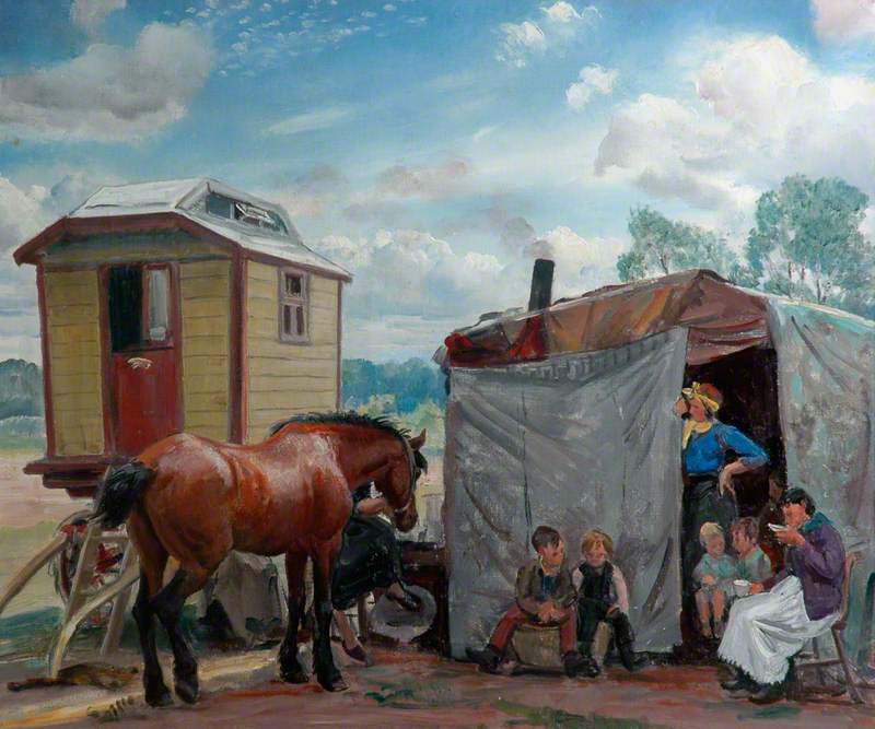 Gypsies, Caravan and Pony