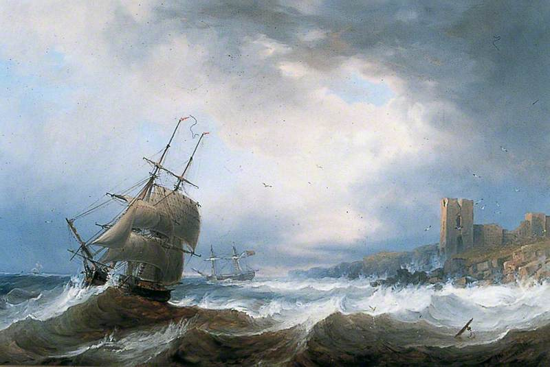 Ships Beating off a Lee Shore