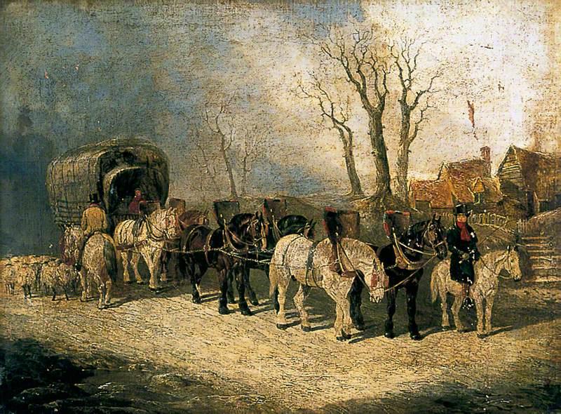 Deacon, the London to York Carrier, on the Road in Winter