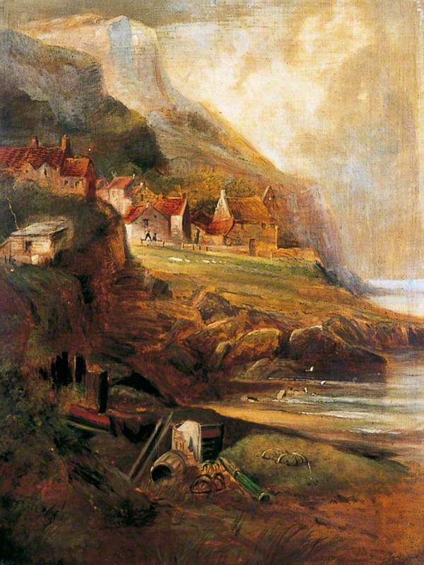 Off Whitby: Coast Scene
