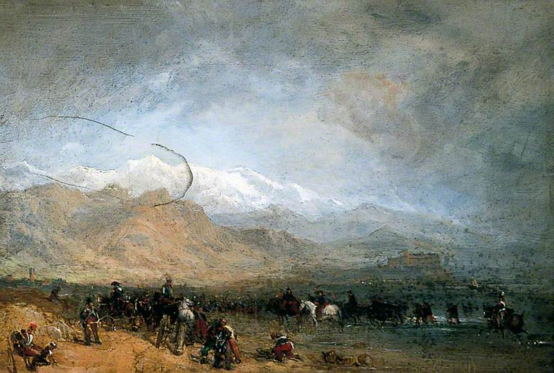French Troops Fording the Magra