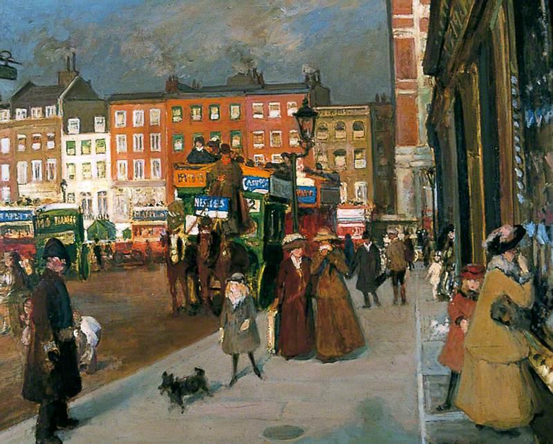Knightsbridge from Sloane Street, London (Fine December Morning)