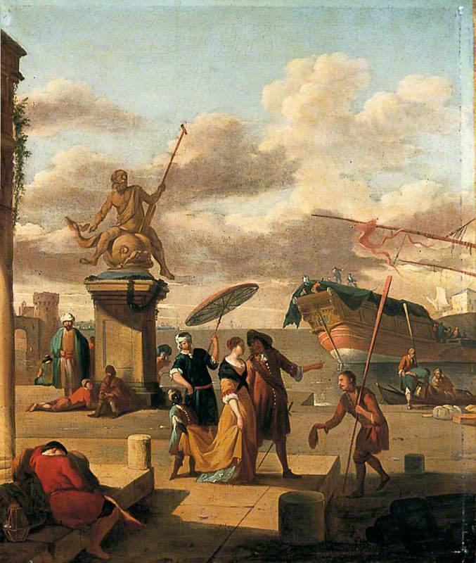 Italian Port Scene