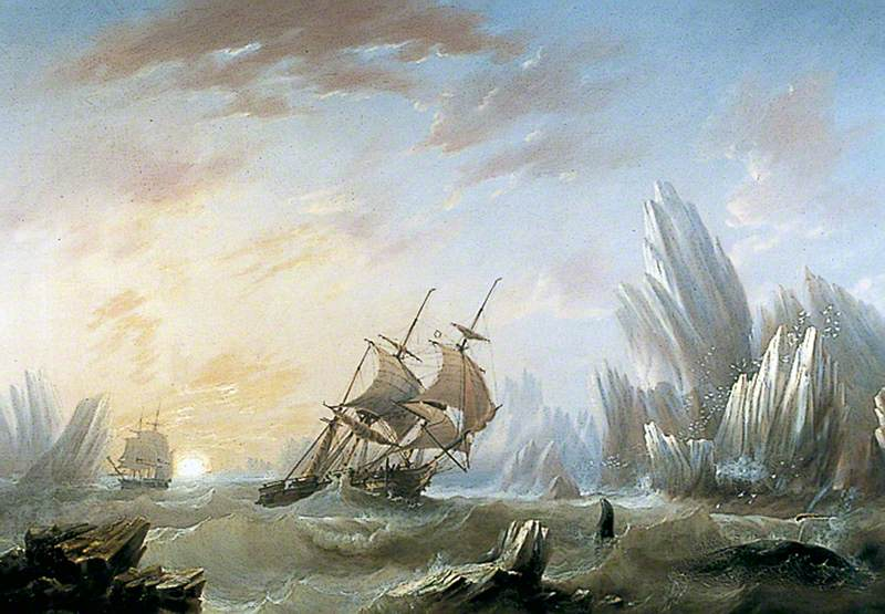 Whale Fishing in a Polar Sea
