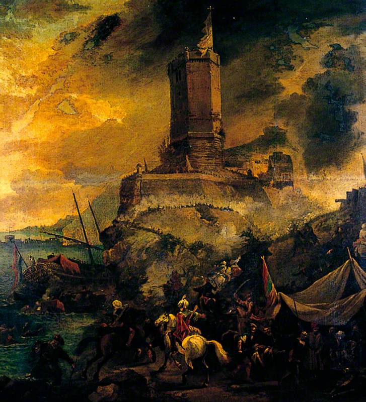 The Wreckers, Stormy Coast Scene with Tower