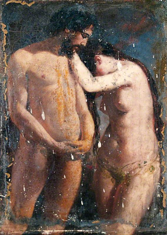 Sketch of Adam and Eve