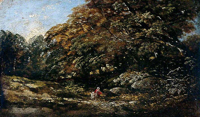 Landscape with Trees and a Rocky Stream