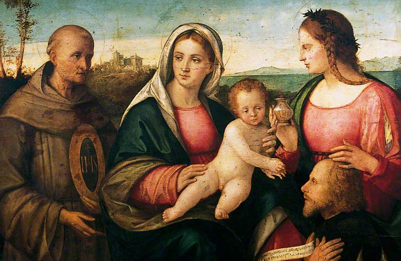The Virgin and Child with Saint Bernardino of Siena, Saint Mary Magdalene and a Donor