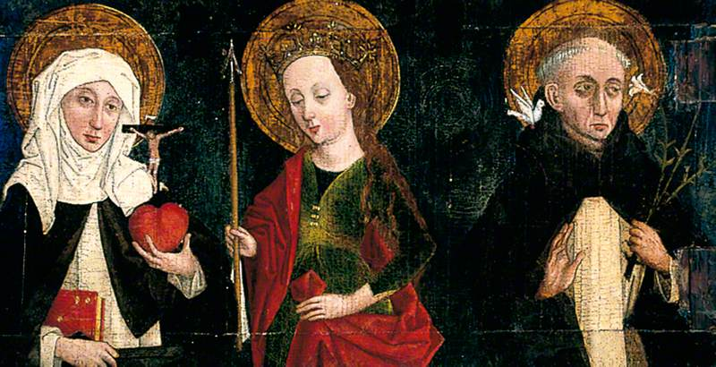 Wing of an Altarpiece with Saints