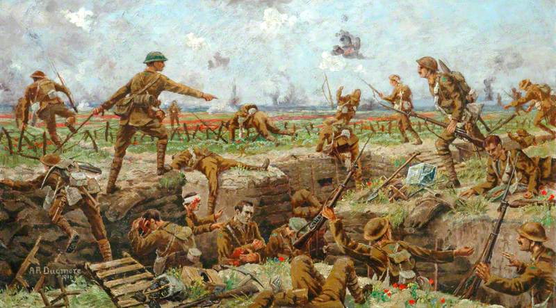 Troops Going over the Top, First World War (Battle of the Somme)
