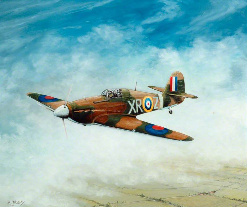 Hurricane IIA XR-Z of 71 Squadron