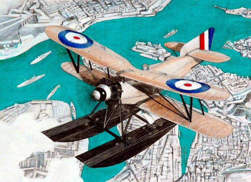 Fairey Flycatcher over Malta